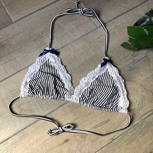 Rare! Beach bunny striped triangle bikini top